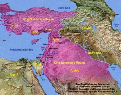 Wilayah Kekuasaan Salomo (Tahta Kerajaan Salomo)