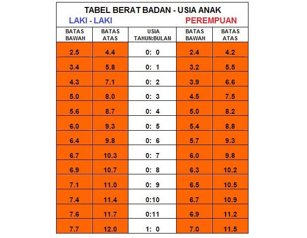 Berat Badan & Tinggi Normal Anak 1 Tahun 1 Bulan
