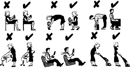 Posisi yang benar untuk menghindari sakit punggung
